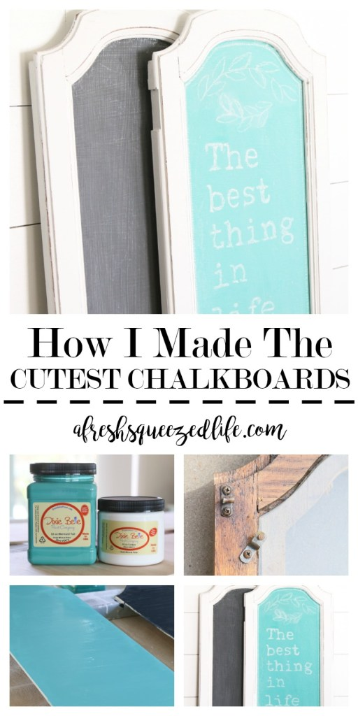 Every home needs the cutest chalkboard signs! They are a perfect spot for keeping track of so many things! Let me show you how to make chalkboard signs!  THE CUTEST CHALKBOARD SIGNS