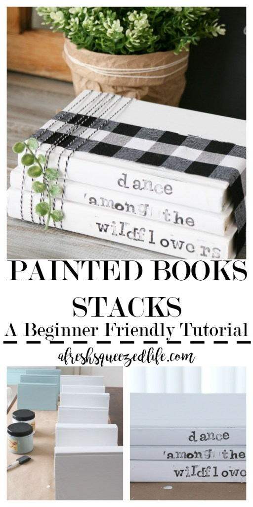 Got some old books? Got some chalk paint? Let's make a DIY Painted Book Stack. This simple craft is perfect for decor or for gifting! DIY PAINTED BOOK STACK