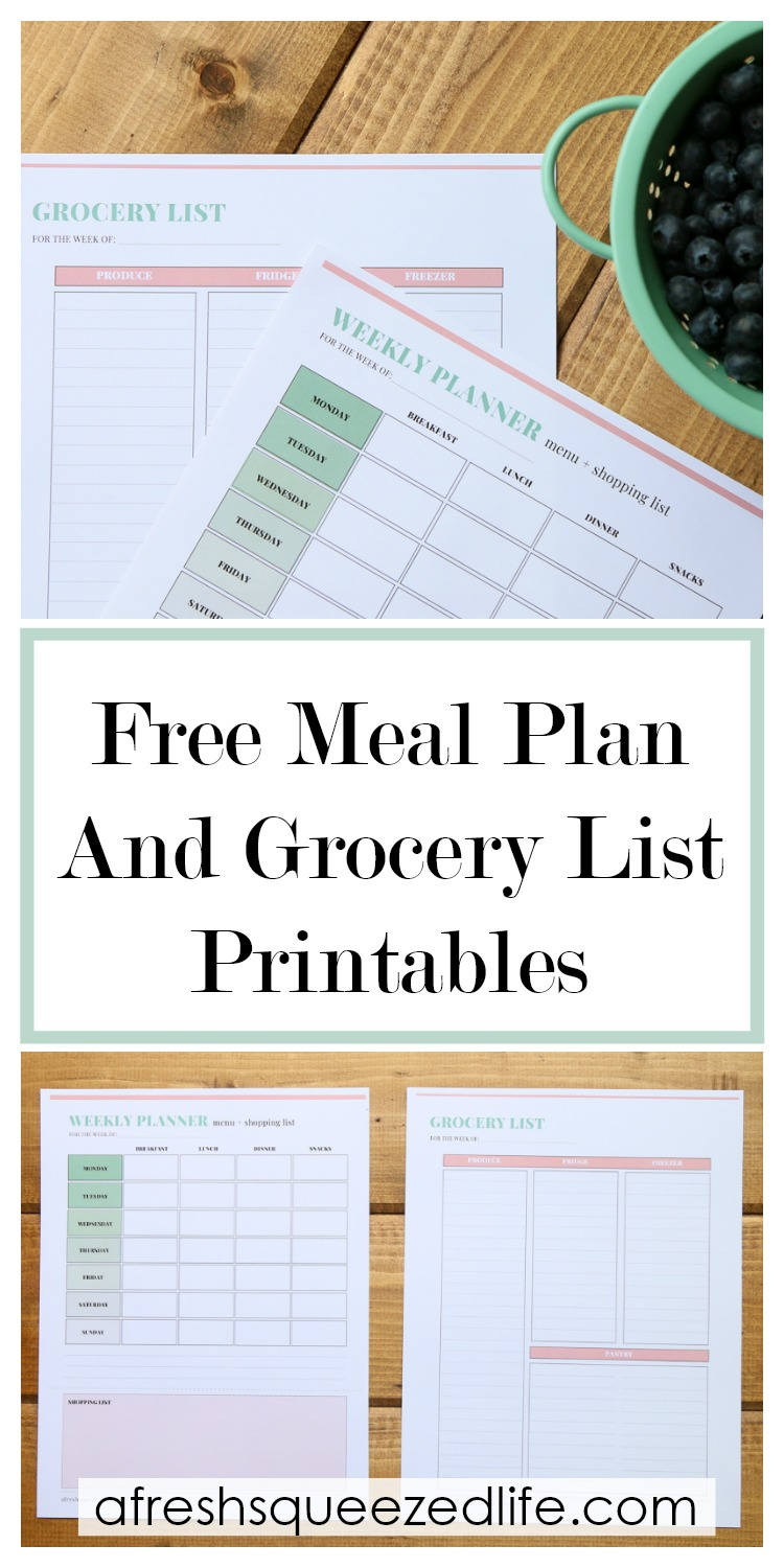 graphic about Weekly Meal Plan Printable named Free of charge PRINTABLE WEEKLY Supper Coming up with TEMPLATE - A Refreshing