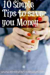 10 Simple Tips for you to save Money