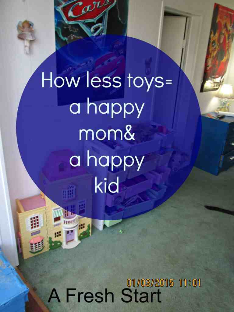 less toys= a happy ,mom and a happy kid