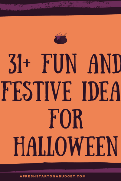 31+ Fun and Festive Ideas For Halloween