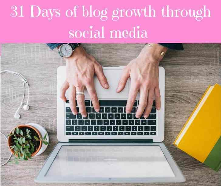31 Days of blog growth through social media
