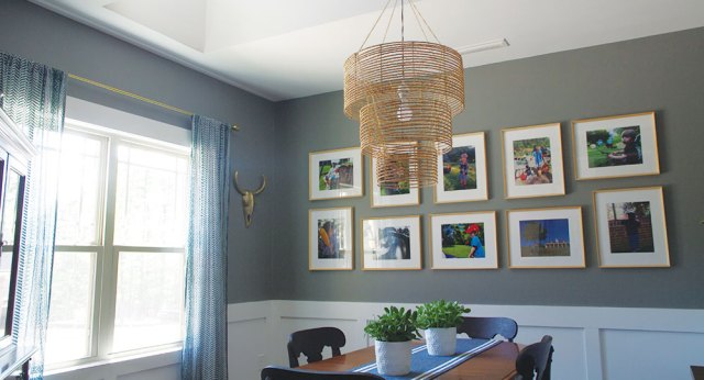 Modern Dining Room Gallery Wall