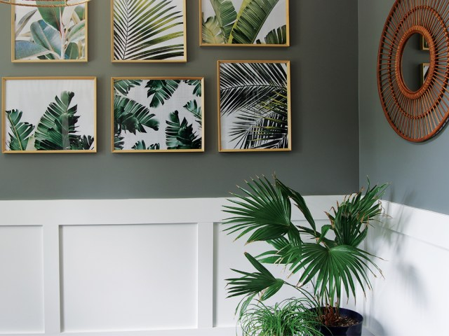 Tropcial Palm Leaves Gallery Wall