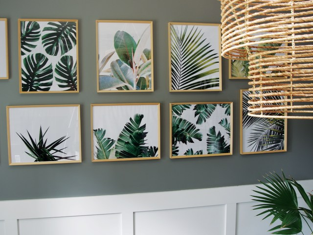 Tropical Palm Leaves Gallery Wall