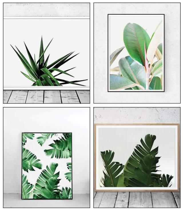 Etsy Tropical Palm Banana Leaf Prints