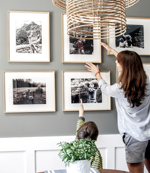 Modern Gallery Wall Refresh - Framing Fall Light