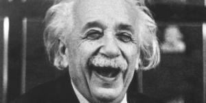 Einstein_laughing hmmm