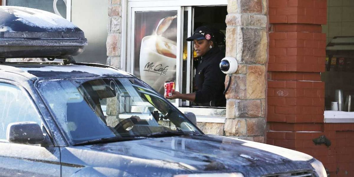 A McDonalds drive thru in South Africa. Image courtesy: Business Insider