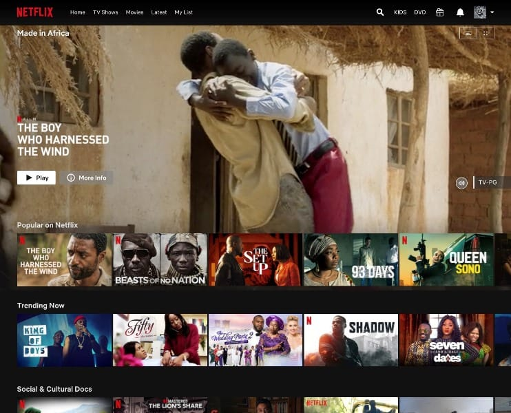 Netflix Made In Africa collection