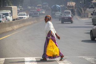 Lack of proper pedestrian crossings on busy urban roads