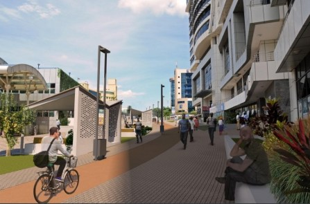 Designs of the renovated car free zone courtesy of City of Kigali