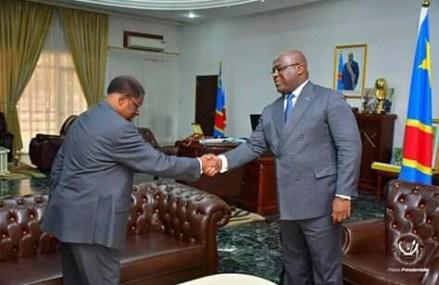 RDC: Félix Tshisekedi a reçu le bureau du senat de Thambwe Mwamba