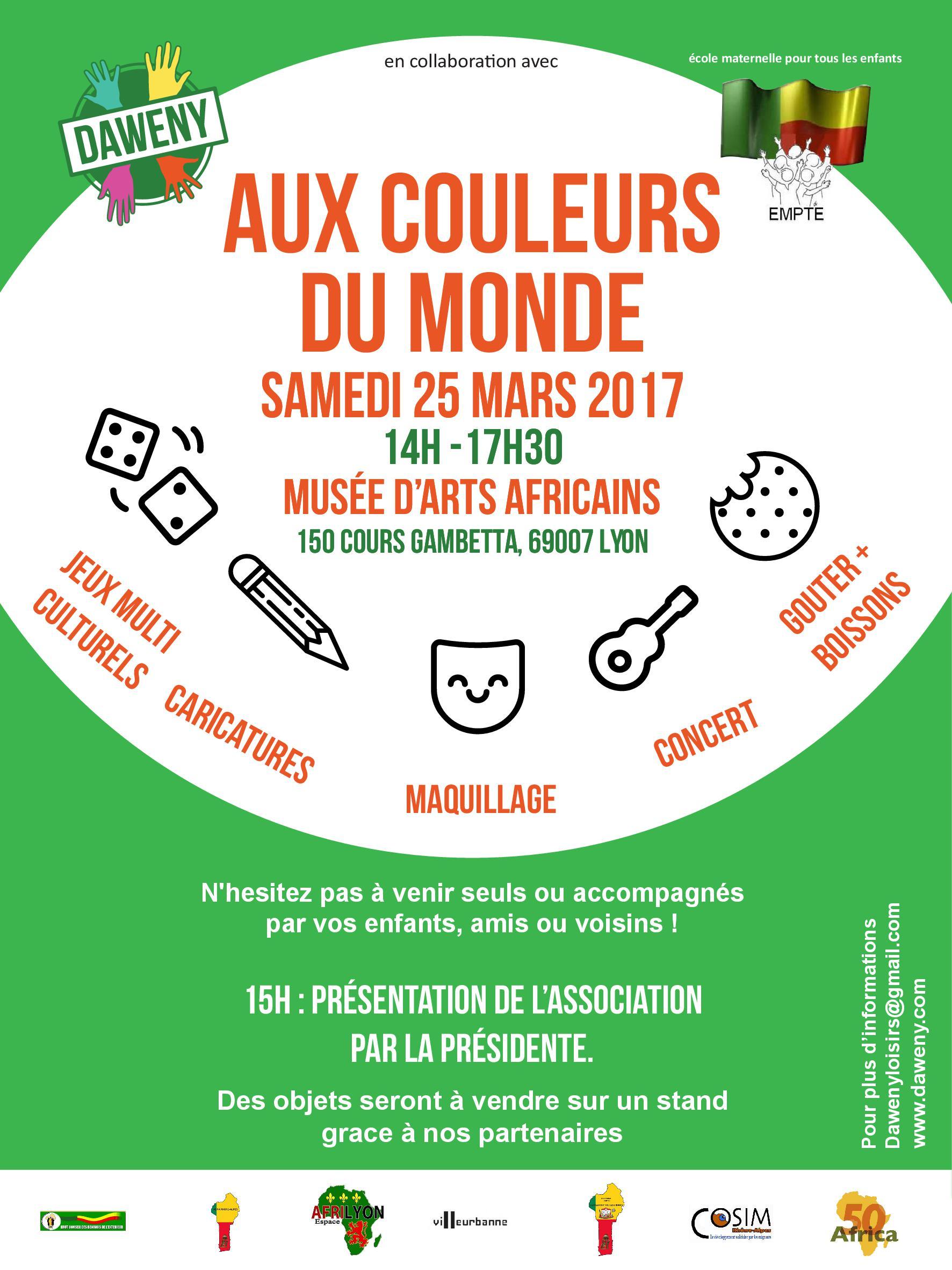 [ENFANTS] Vif succès de l'après-midi récréative « Aux couleurs du monde » ce 25 mars 2017 à Lyon