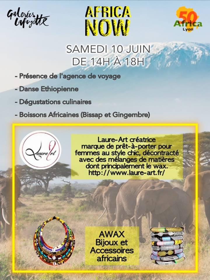 Africa 50 présent en nombre ce samedi 10 juin 2017, de 14h à 18 h aux Galeries Lafayette de Bron