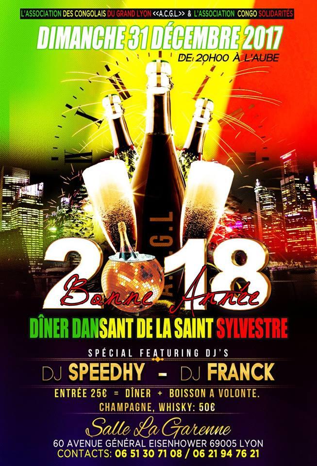 [CONGO] L'ACGL et Congo solidarité organisent le réveillon dimanche 31 décembre 2017 à Lyon