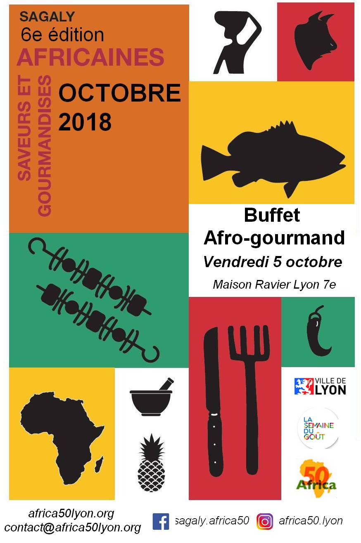 [DÉCOUVERTES] Buffet AFRO-GOURMAND vendredi 5 octobre 2018 à Lyon – 6e édition de SAGALY