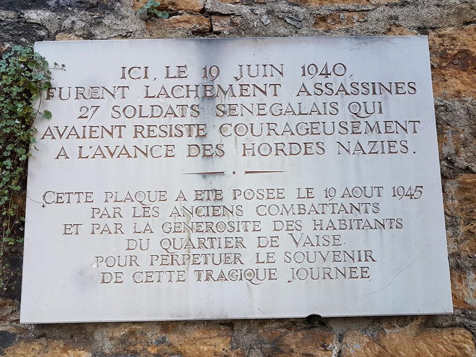 Hommage aux Tirailleurs Africains fusillés par les Nazis mardi 18 juin 2019 à Lyon