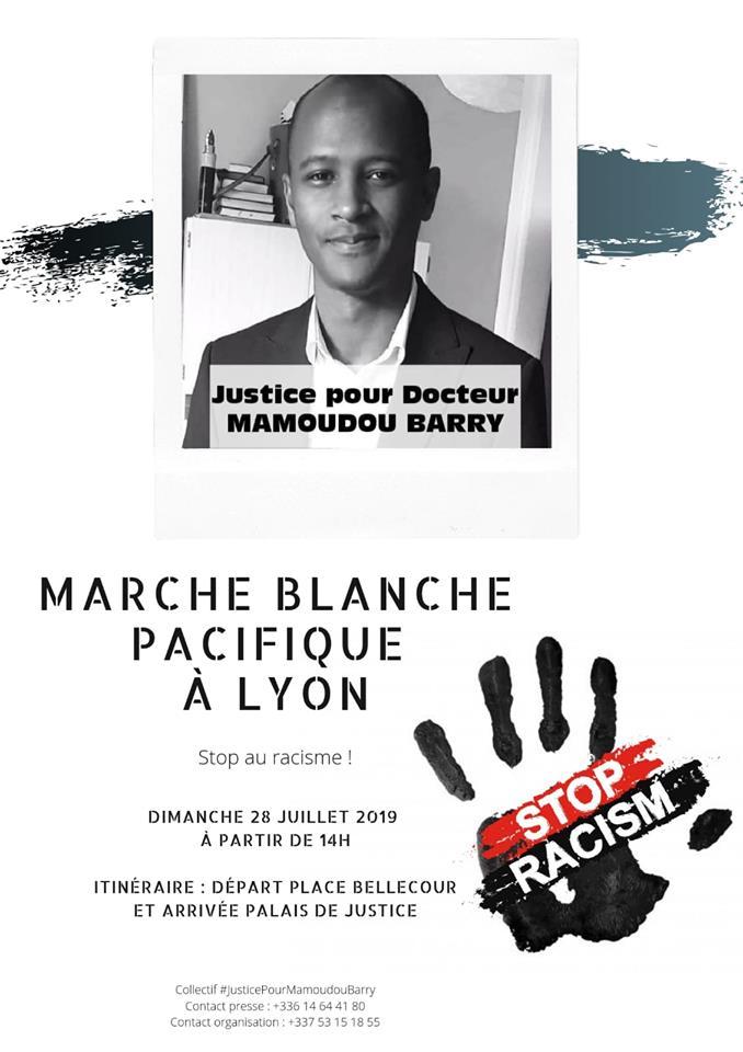 [HOMMAGE] Marche blanche pour Mamoudou Barry dimanche 28 juillet 2019 à Lyon
