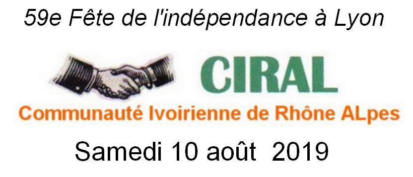 [COTE D'IVOIRE] La CIRAL organise l'an 59 de l'indépendance samedi 10 août 2019 au parc de Miribel ANNULÉ