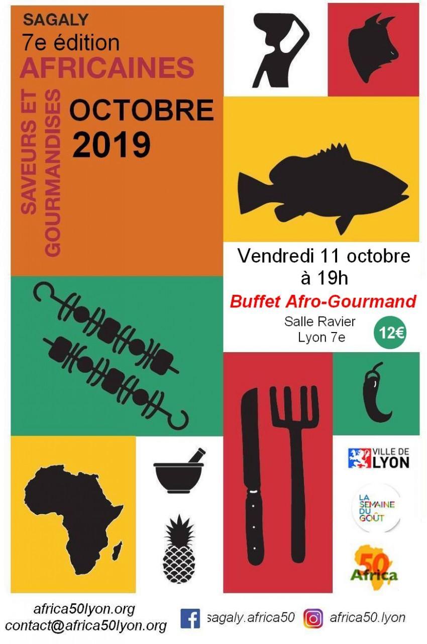 [SAGALY] Buffet Afro-Gourmand Voyage culinaire Vendredi 11 octobre 2019 à Lyon