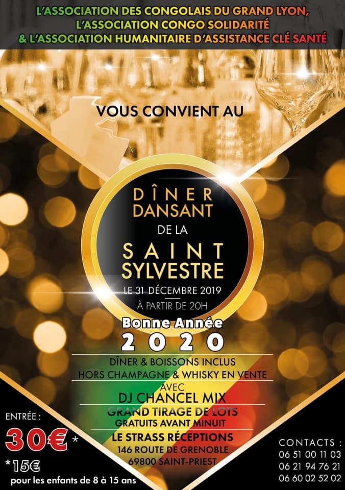 [CONGO] Réveillon de l'ACGL à Saint Priest (69) mardi 31 décembre 2019