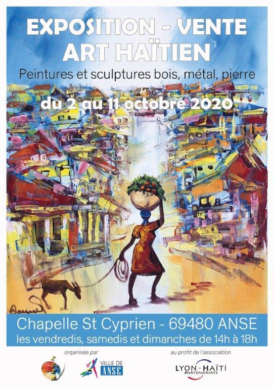 [EXPOSITION] Vente d'art haïtien à Anse (69) les 9,10 et 11 octobre 2020