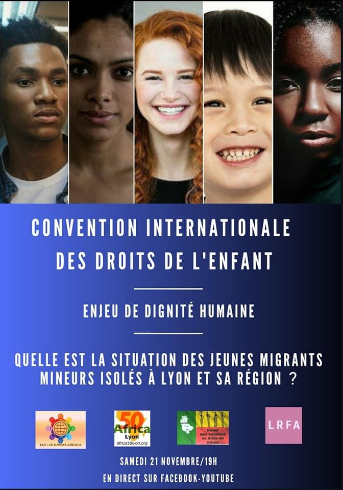 """[DROITS DE L'ENFANT] Visio-Conférence """"Journée Internationale des droits de l'enfant"""" – Lyon 2020- Samedi 21 novembre 2020 à 19h"""
