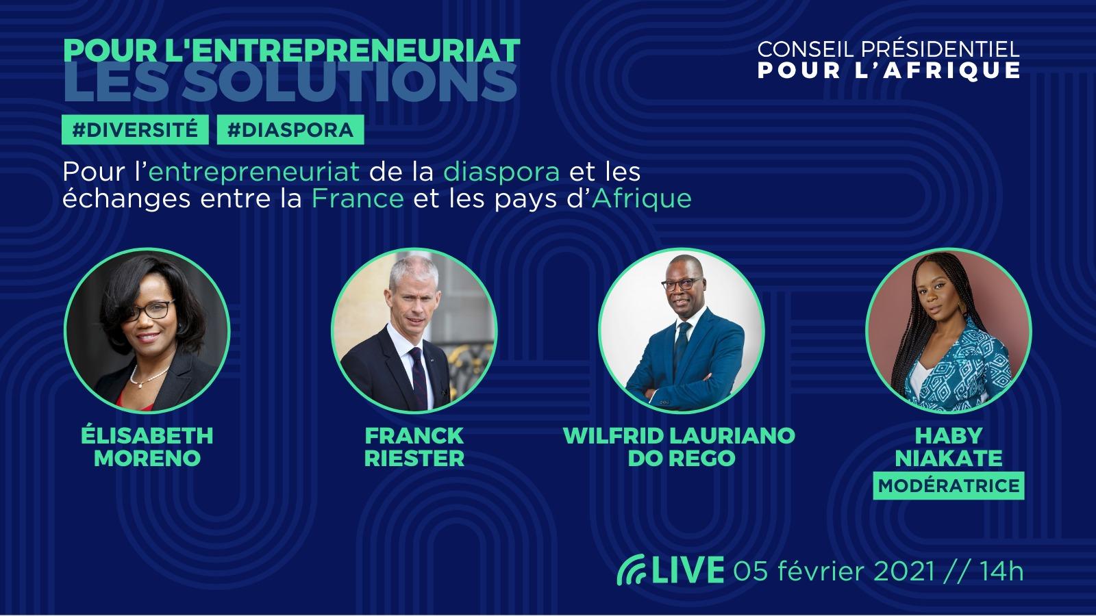 [ECONOMIE] Participez le 5 février 2021 à la dernière étape du tour de France pour l'entrepreneuriat des diasporas organisée par le Conseil Présidentiel pour l'Afrique