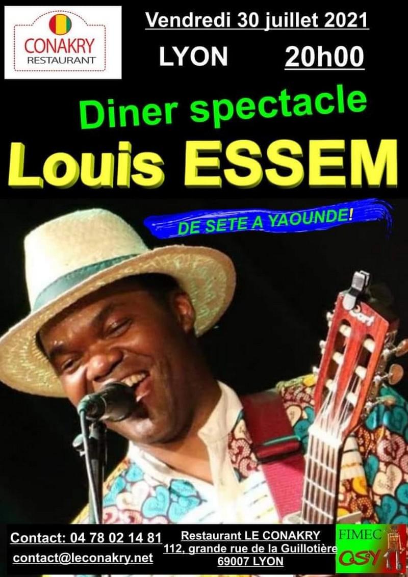 """[MUSIQUE] Dîner-spectacle """"De Sète à Yaoundé"""" avec Louis ESSEM au Conakry (7e) vendredi 30 juillet à 20h"""