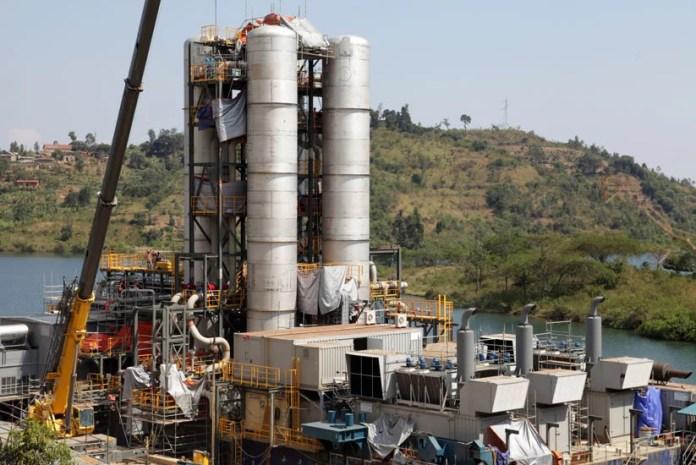 Rwanda methane plant on Lake Kivu