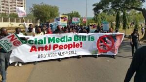 """Nigerian Activists March Against """"Anti-free Speech"""" Social Media Bill"""