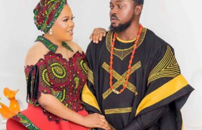 Toyin Abraham's Husband's Outfit Goes Wrong On His Birthday