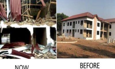 Demolished Nigeria Commissioner Office in Ghana