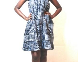 blue dress africadada
