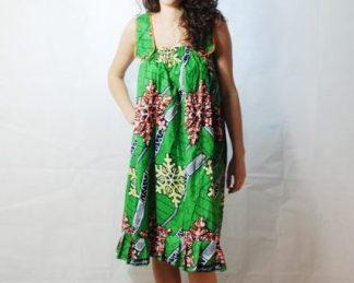 green dress african fabrics