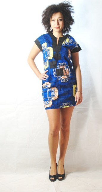 mini dress blue africadada