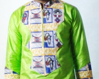 green blue shirt african fabrics