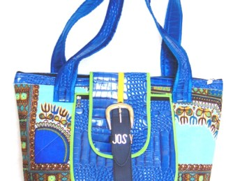 Woman bag blue dada