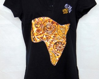 woman black polo africadada
