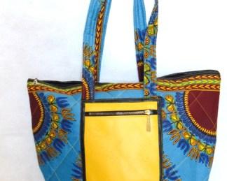 sac bleu jaune sale