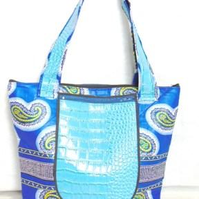 Africadada woman bag double blue