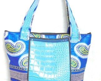 Africadada woman bag double blue