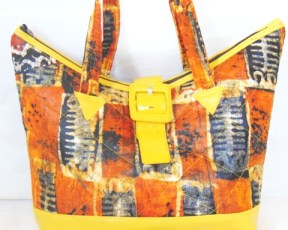 woman african bag yellow color