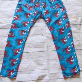 african blue pant