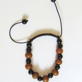 african Black and brown beads Bracelet