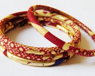 african fabric women's bracelet