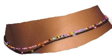 African hip beads