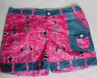 culotte short tissu africain rose